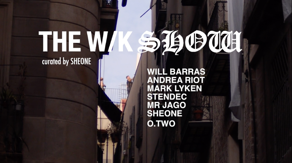 WK Show and Rooftop Live Art session curated by SheOne at Fousion Gallery Barcelona